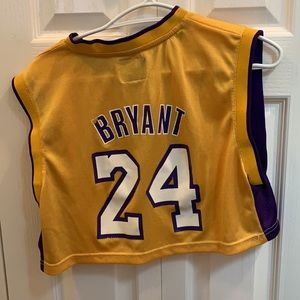 Kobe Bryant Lakers jersey cropped
